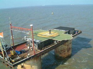 Prince Michael Standing on the Sealand Helipad