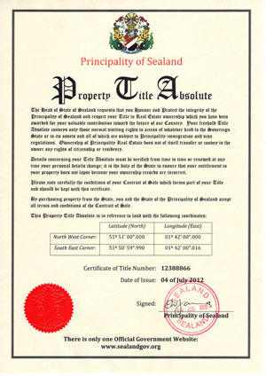 title absolute certificate