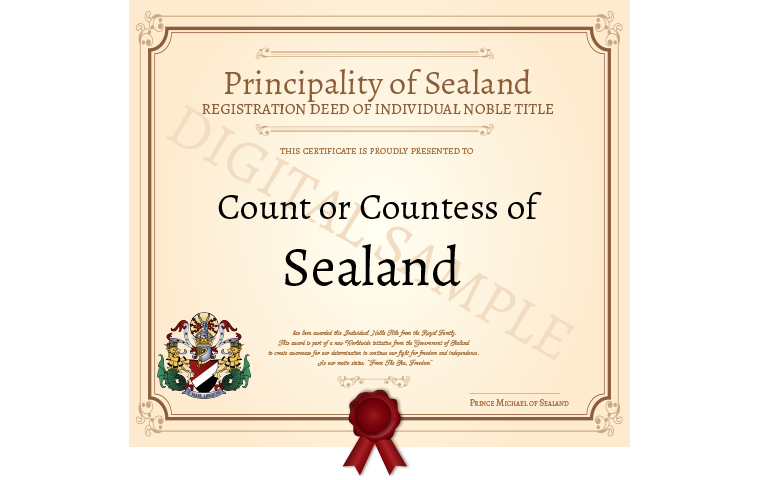 become a count
